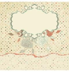 Vintage roses floral card vector