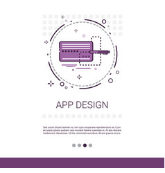 app design software development computer vector image