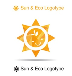 Bio logo icon and symbol smile and leaves in the vector image