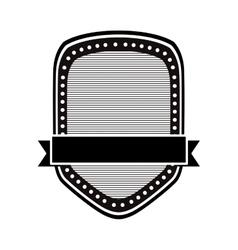 Black and white emblem or label image vector