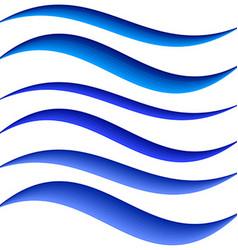 Blue water symbol element design set vector