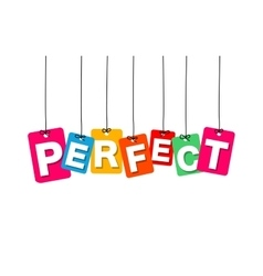 Colorful hanging cardboard tags - perfect vector