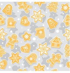 doodles christmas cookies gingerbread - vector image vector image