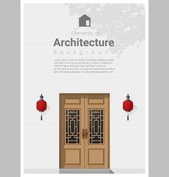 Elements of architecture front door background 6 vector image vector image