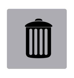 Figure emblem metal trash can icon vector