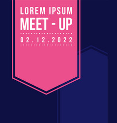 Geometric cover design meet up style vector