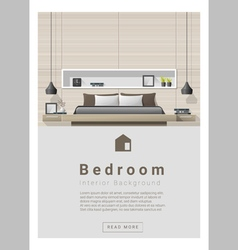 Interior design Modern bedroom banner 4 vector image vector image