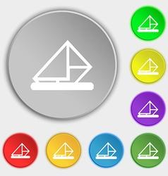 letter envelope mail icon sign Symbol on five flat vector image