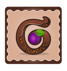 letter g candies vector image