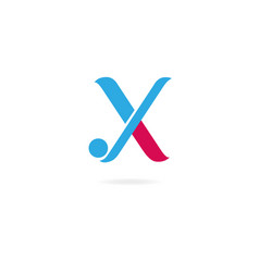 letter x y logo icon design template elements vector image vector image