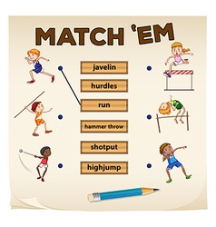 Matching game for sports vector