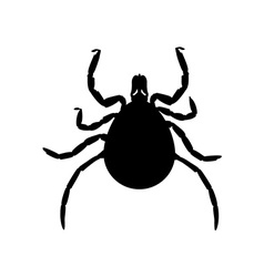 Mite black silhouette vector