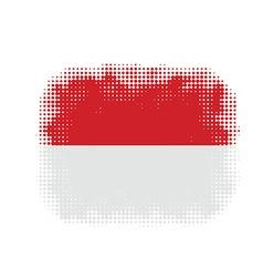 Monaco flag symbol halftone vector image vector image