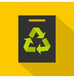Recycling icon flat style vector image vector image