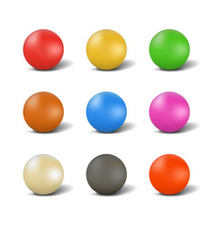 set of balls for playing snooker vector image vector image