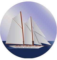 ship at sea shipping boat water transport vector image