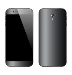 Smartphones front back view vector