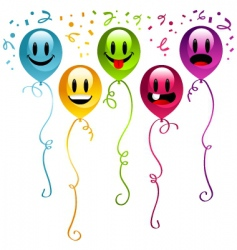 smiley balloons vector image