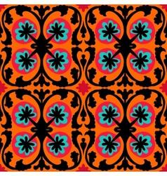 Suzani pattern with Uzbek and Kazakh motifs vector image