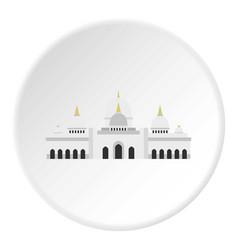 Taj mahal icon circle vector