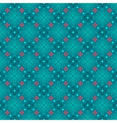 Turquoise seamless background classic vector image vector image