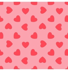 Valentines day Pink hearts - seamless pattern vector image vector image