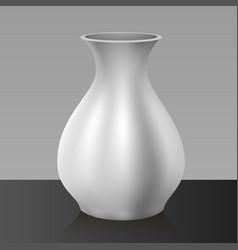 White vase isolated on background vector