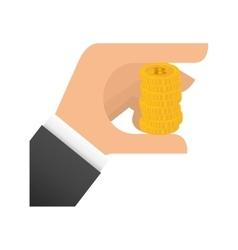 Coin hand money financial item design vector