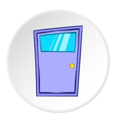 Kitchen door icon cartoon style vector