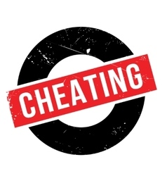 Cheating rubber stamp vector