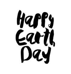 Earth day concept - decorative handdrawn lettering vector