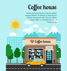 Coffee house advertising banner vector