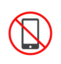 No mobile phone icon no phone telephone cellphone vector