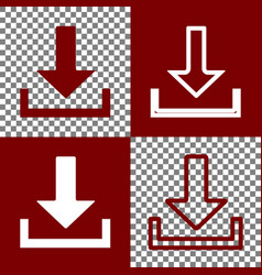 Download sign   bordo and vector