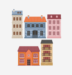 building color houses vector image
