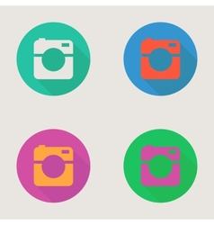 Hipster photo or video camera icon minimalism vector