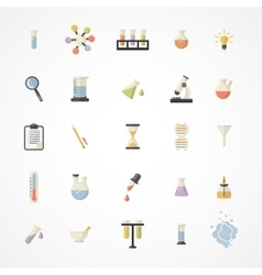 Science web icons vector