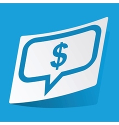 Dollar message sticker vector