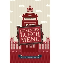 Business lunches menu vector