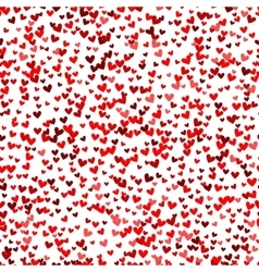 Romantic red heart pattern vector