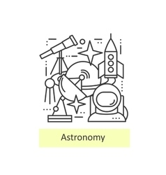 Modern thin line icons of astronomy vector
