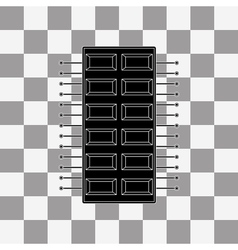 Processor icon vector