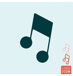 Music note icon isolated vector