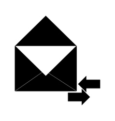 Envelope with incoming and outgoing arrows icon vector