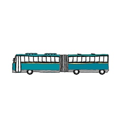 A running bus vector image