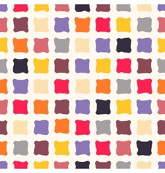 Abstract seamless pattern with colorful squares vector image