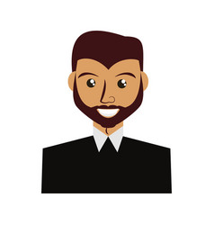 Adult male beard vector