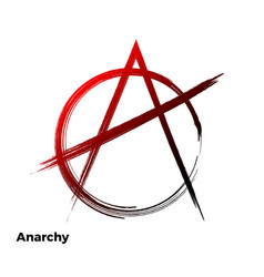 Anarchy grunge symbol vector