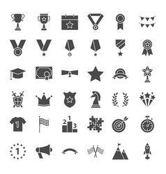 award solid web icons vector image vector image