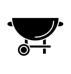 barbecue grill icon black vector image